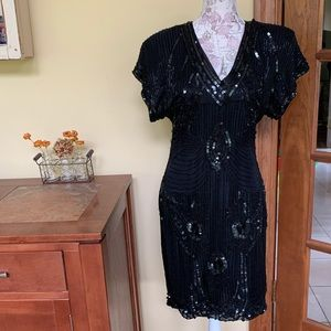 Sténay Vintage Black Beaded Dress